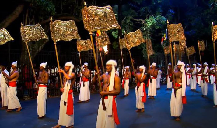 provincial flag bearers at kandy festival