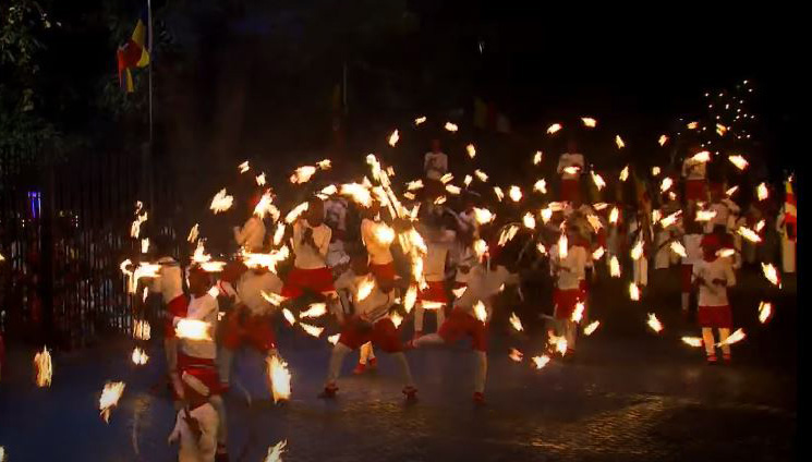 Fire breathers at Kandy festival