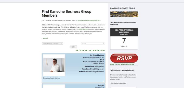 KBG Directory New Interface