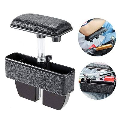 Car Seat Side Organizer Armrest Pad, Car Seat Gap Filler Elbow Support Cushion Auto Coin Change Holder