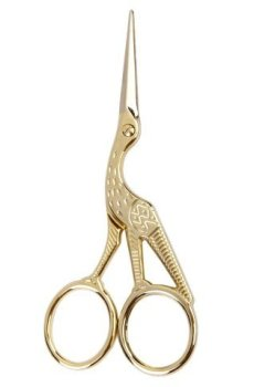 Retro Gold Plated Crane Sewing Tailoring Scissors