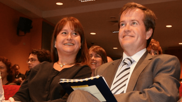 Bill Shorten and his first wife Debbie Beale in 2007