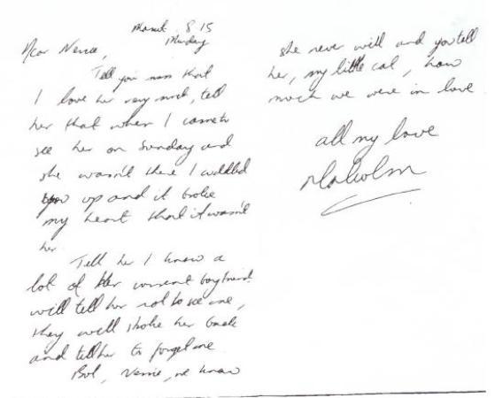Malcolm Turnbull's cat letter