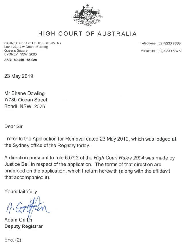 High Court of Australia's Justice Virginia Bell legalizes