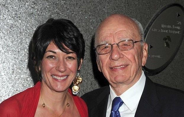 Ghislaine Maxwell and Rupert Murdoch