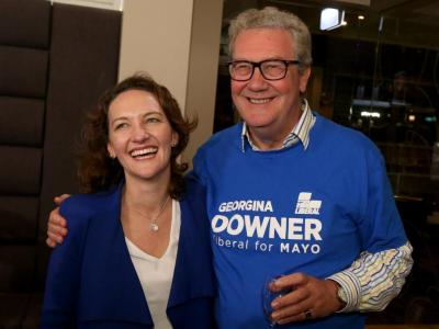 Alexander Downer and Georgina Downer
