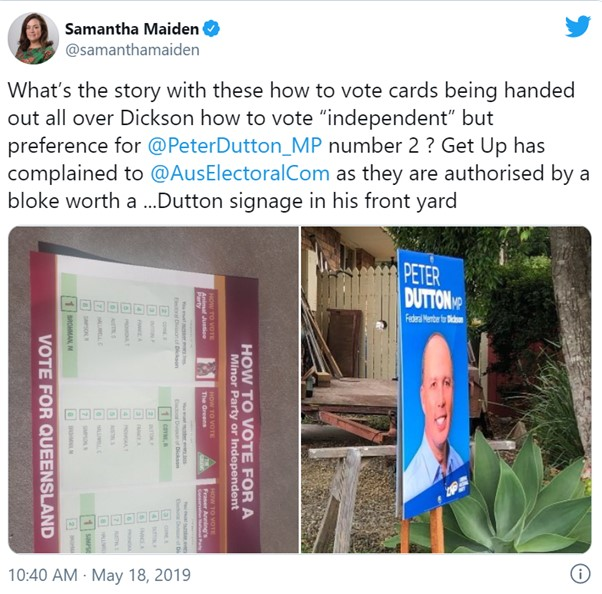 Peter Dutton - electoral fraud