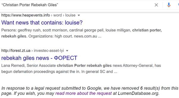 Christian Porter - Rebekah Giles - Google 4