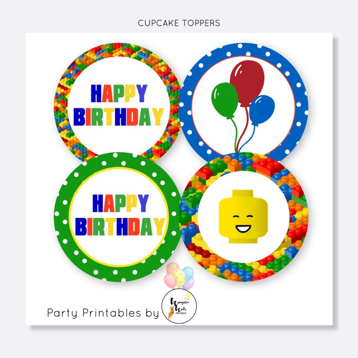 LEGO SET 2 CUPCAKE TOPPERS