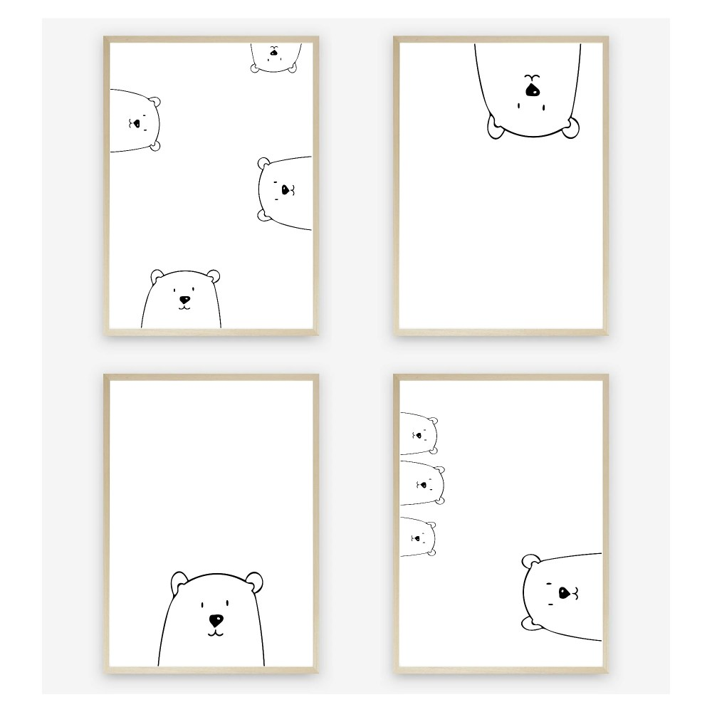 Peek-A-Boo Nursery Wall Art Print Set by Kangaroo Kids Designs