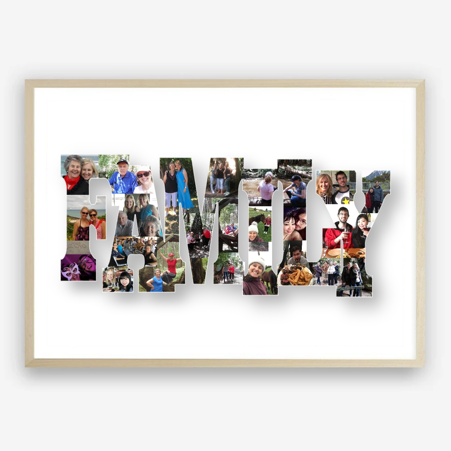 Family Photo Collage Digital Print Gift Idea by Kangaroo Kids Designs