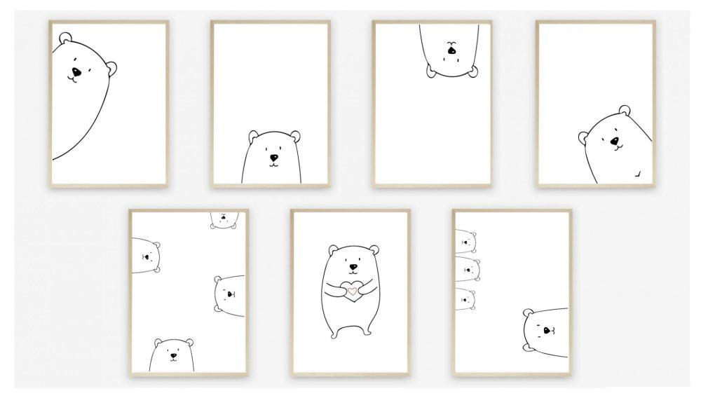 Peek A Boo Nursery Print Set Instant Digital Download by Kangaroo Kids Designs