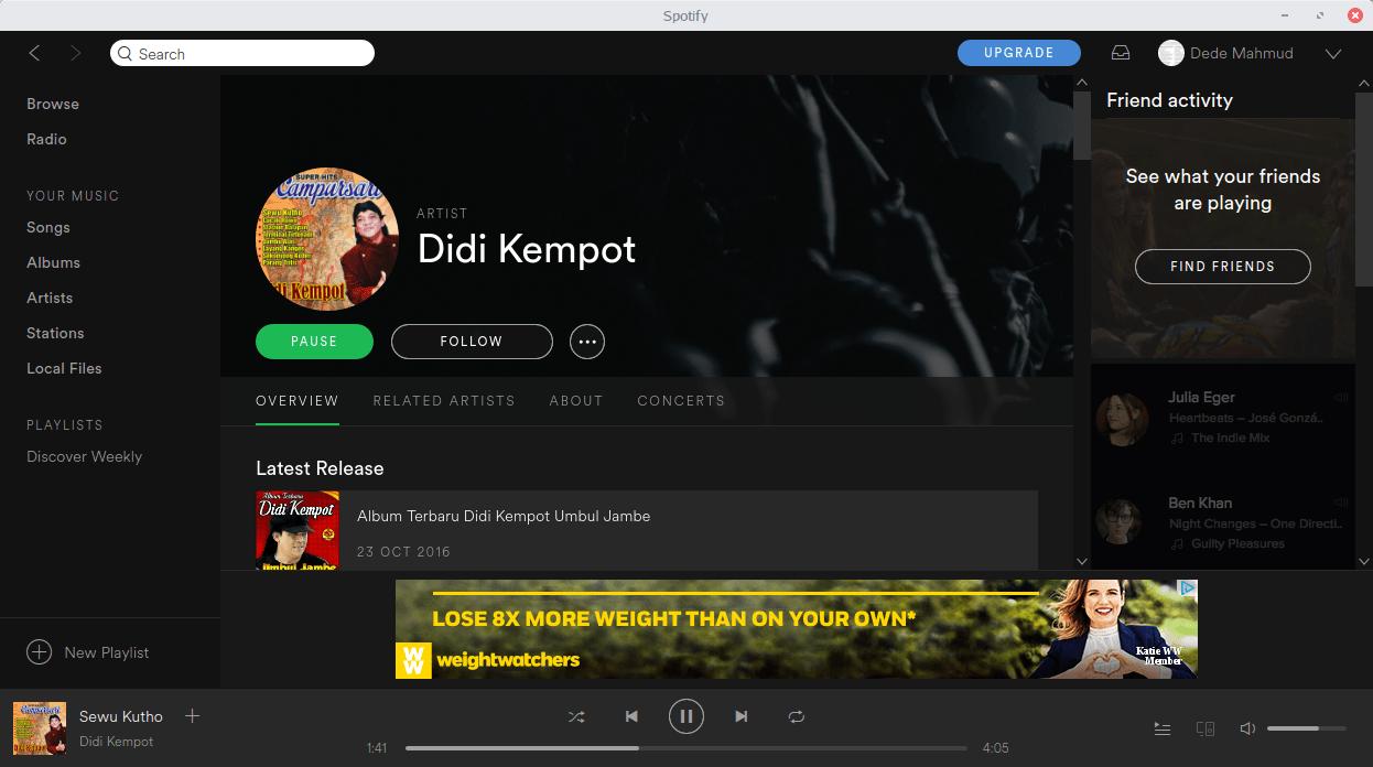 Install Spotify di BlankOn X Tambora