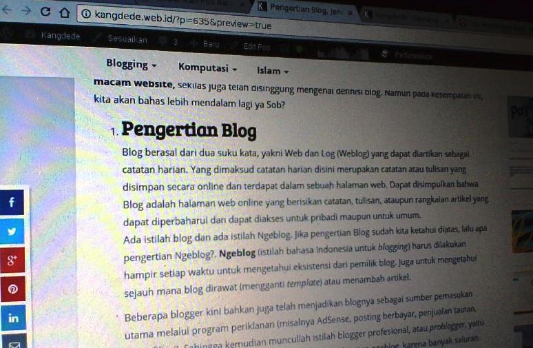 Pengertian Blog