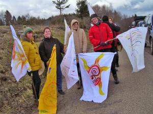 Visionen Flaggen werden ausgepackt