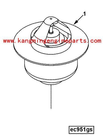 Genuine engine parts 3972071 thermostat