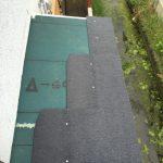 浴室・脱衣場の屋根施工 ①