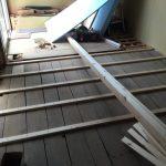 リビング床の保温とレベル合わせ