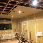 天井下地造作とビング天井貼り