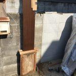 ポスト・インターホン柱の設置(立込)