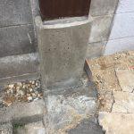 ポスト・インターホン柱の設置(仕上げ)