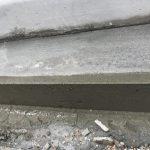 エントランス側溝型枠の解体と塀の漆喰塗り