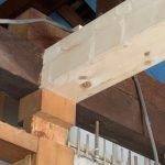 ロフトの基礎木材設置