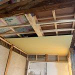 天井の石膏ボード貼り