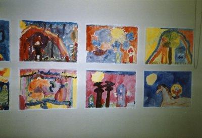 1986_lasten kuvataidekoulun näyttely_töitä