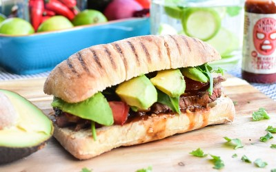 Grilled Beef with BBQ marinade (Mexican Torta)