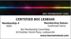 Certified Boi Lesbian Membership Card - Copy