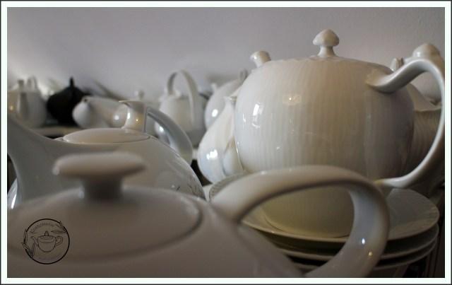 Teekannen Porzellan