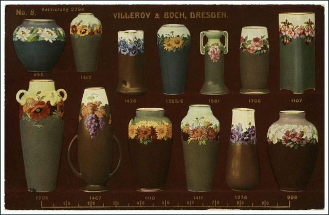 Villeroy & Boch Dresden Musterkarte Vasen