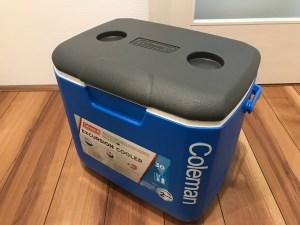 コールマンのクーラーボックスオプション28L キャンピングカーレンタル滋賀