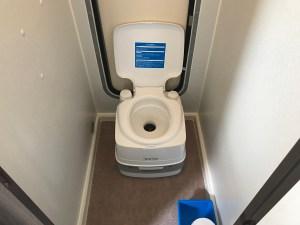 ポータブルトイレ キャンピングカーレンタル滋賀カノアカーレンタルトイレオプション