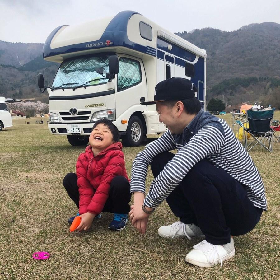 マキノ高原キャンプ場でキャンプ キャンピングカーレンタル滋賀カノアカーレンタル