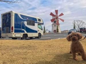 キャンピングカーと高島市しんあさひ風車村 キャンピングカーレンタル滋賀カノアカーレンタル ペット同伴OK