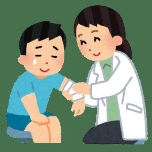 滋賀県の総合病院 怪我した少年と先生