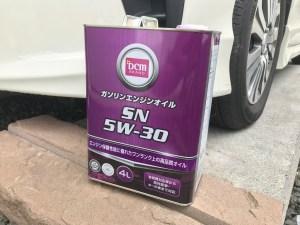 エンジンオイル交換 ガソリンエンジンオイル SN 5W-30