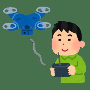 無人機ドローンの空撮とパイロット