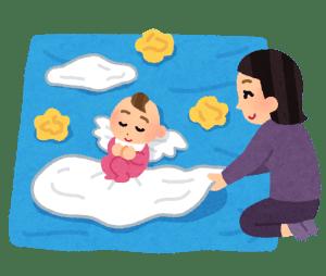 赤ちゃんのお昼寝アート