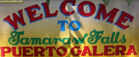 Tamaraw Falls Sign