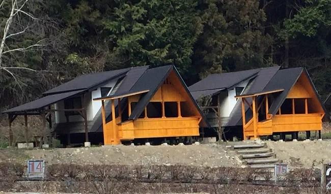 ウエストリバーオートキャンプ場のバンガローの紹介