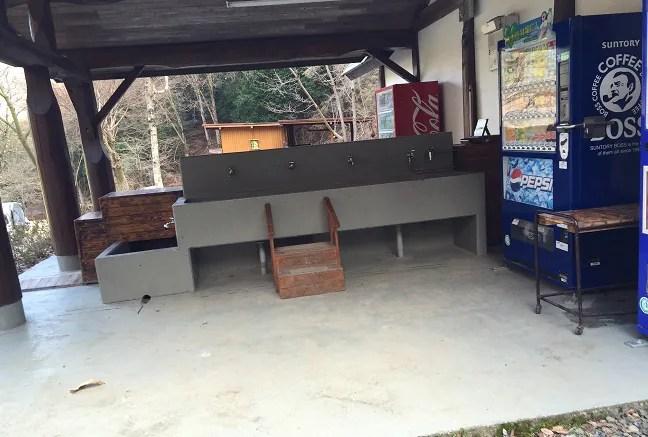 ウエストリバーオートキャンプ場の炊事場の紹介