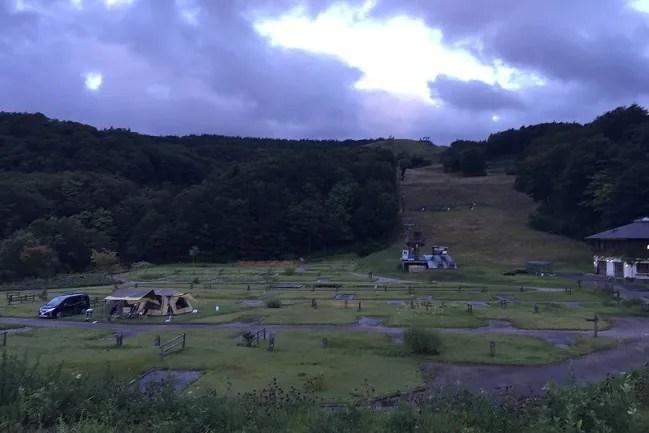 月山あさひサンチュアパークのオートキャンプサイト