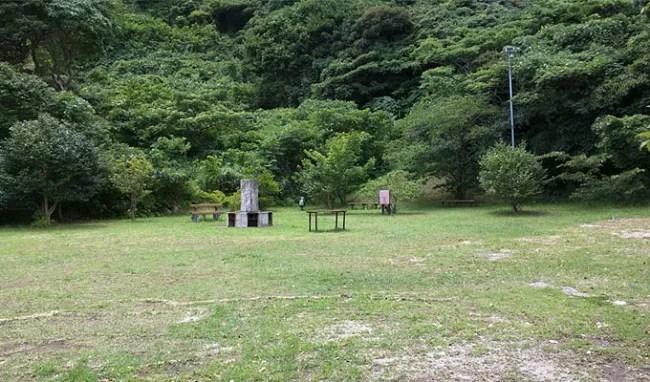 神津島のキャンプ場