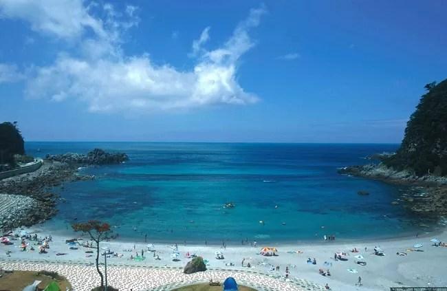 神津島の沢尻キャンプ場