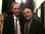 آقای اسماعیل میرمظفری به همراه آقای محمود امینی در جشن مهرگان ۱۳۹۳ کانون دوستداران فرهنگ ایران
