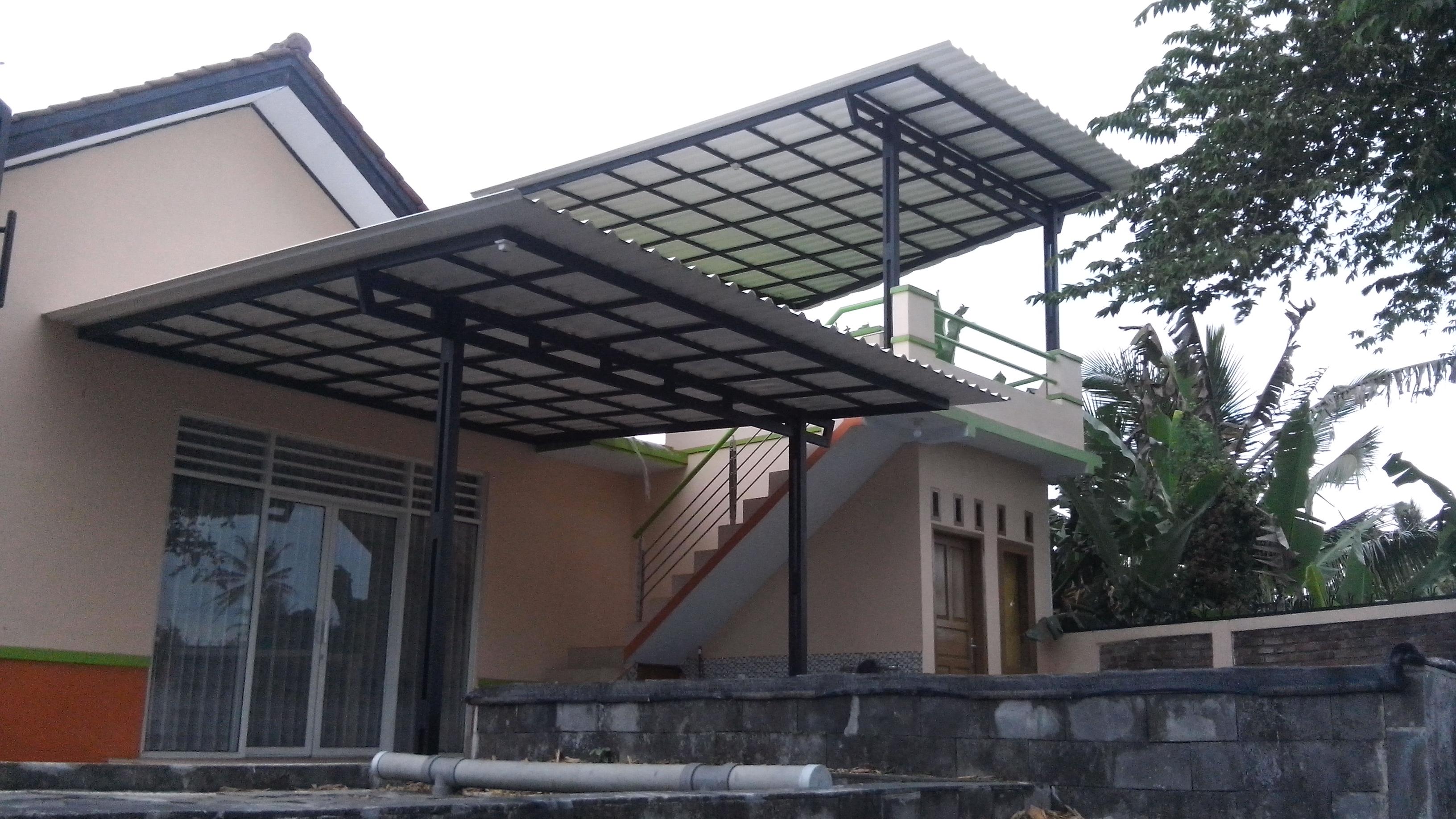harga ganti atap baja ringan daftar kanopi alderon spandek polycarbonate 2017 ...