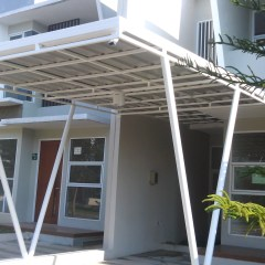 Harga Kanopi Baja Ringan Atap Polycarbonate Spandek Alderon Jakarta
